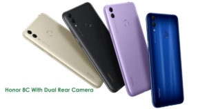 Honor 8c With Dual Rear Cameras