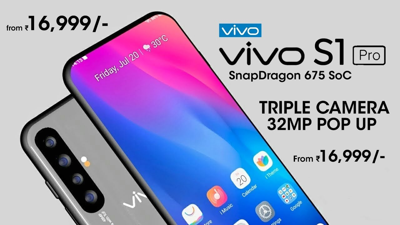 Vivo S1 Pro With Pop Selfie Camera